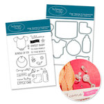 Technique Tuesday - DIY Steel Die and Acrylic Stamp Set - Bundle of Joy - Baby Bundle