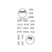 Technique Tuesday - Clear Photopolymer Stamps - Calendar - Months and Days