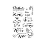 Technique Tuesday - Christmas - Clear Acrylic Stamps - Christmas Calories