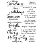 Technique Tuesday - Clear Acrylic Stamps - Classic Christmas Sentiments