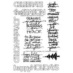 Technique Tuesday - Christmas - Clear Acrylic Stamps - Celebrate the Season by Ali Edwards