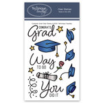 Technique Tuesday - Clear Acrylic Stamps - Congrats Grad