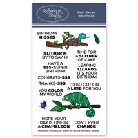 Technique Tuesday - Animal House Collection - Clear Photopolymer Stamps - Chameleon Friends
