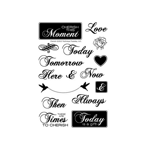 Technique Tuesday - Clear Acrylic Stamps - Cherish