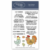 Technique Tuesday - Animal House Collection - Clear Photopolymer Stamps - Chicken Family
