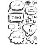 Technique Tuesday - Clear Acrylic Stamps - Chit Chat