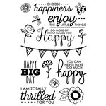 Technique Tuesday - Clear Acrylic Stamps - Choose Happiness
