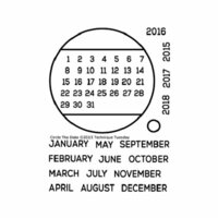 Technique Tuesday - Clear Photopolymer Stamps - Circle the Date