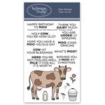 Technique Tuesday - Animal House Collection - Clear Acrylic Stamps - Clementine the Cow