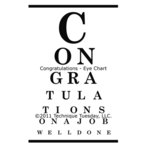 Technique Tuesday - Clear Acrylic Stamps - Congratulations Eye Chart