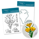 Technique Tuesday - DIY Steel Die and Acrylic Stamp Set - Crocus Bundle