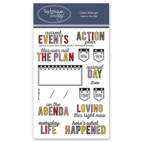 Technique Tuesday - Memory Keepers Studio - Clear Photopolymer Stamps - Current Events