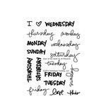 Technique Tuesday - Clear Acrylic Stamps - Days of the Week by Ali Edwards