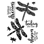 Technique Tuesday - Clear Acrylic Stamps - Dreamy Dragonfly
