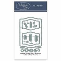 Technique Tuesday - DIY Steel Die - Essential Stitched Labels