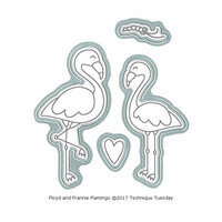 Technique Tuesday - Animal House Collection - DIY Steel Die - Floyd and Frannie Flamingo
