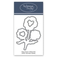 Technique Tuesday - Greenhouse Society Collection - DIY Steel Die - Pansy Flower