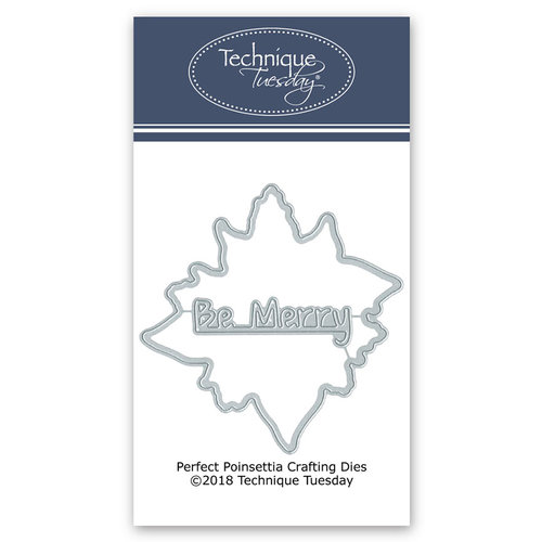 Technique Tuesday - Greenhouse Society Collection - DIY Steel Die - Perfect Poinsettia