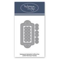 Technique Tuesday - Fresh Cut Studio - DIY Steel Die - Rectangle Bookplate