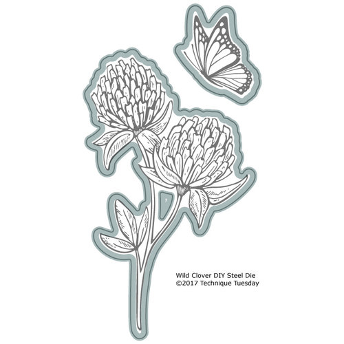 Technique Tuesday - Greenhouse Society Collection - DIY Steel Die - Wild Clover