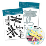 Technique Tuesday - DIY Steel Die and Acrylic Stamp Set - Dragonfly Bundle