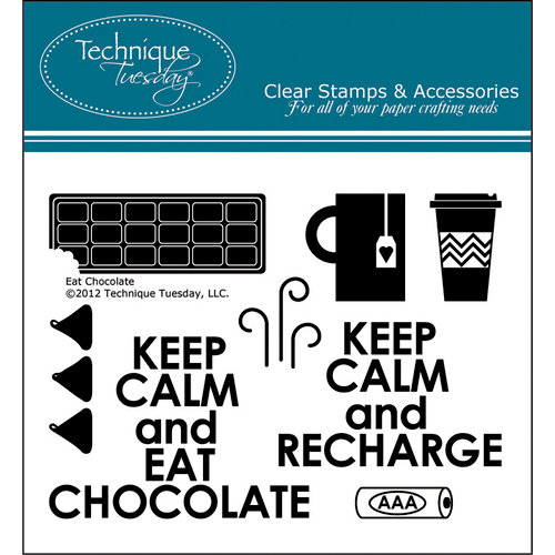Technique Tuesday - Clear Acrylic Stamps - Eat Chocolate