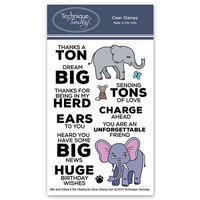 Technique Tuesday - Animal House Collection - Clear Photopolymer Stamps - Ella and Edward the Elephants