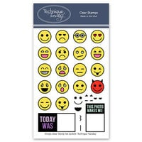 Technique Tuesday - Memory Keepers Studio - Clear Photopolymer Stamps - Emojis
