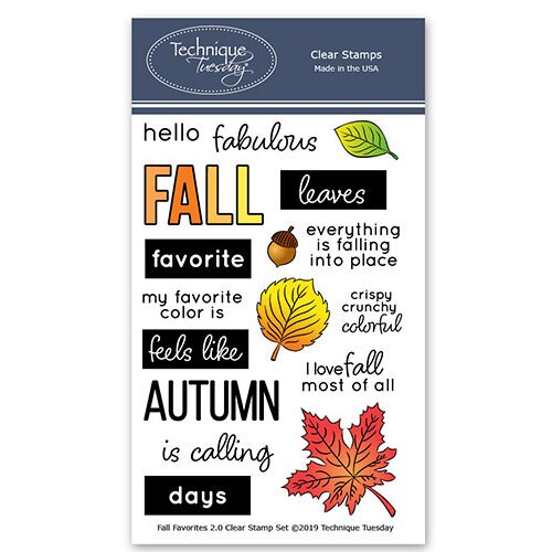 Technique Tuesday - Memory Keepers Studio - Clear Photopolymer Stamps - Fall Favorites