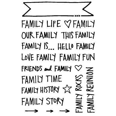 Technique Tuesday - Clear Acrylic Stamps - Family Banners by Ali Edwards