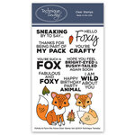 Technique Tuesday - Animal House Collection - Clear Photopolymer Stamps - Felicity and Flynn the Foxes