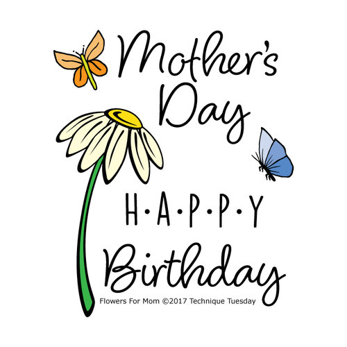 Technique Tuesday - Clear Acrylic Stamps - Flowers for Mom