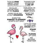Technique Tuesday - Animal House Collection - Clear Acrylic Stamps - Floyd and Frannie Flamingo
