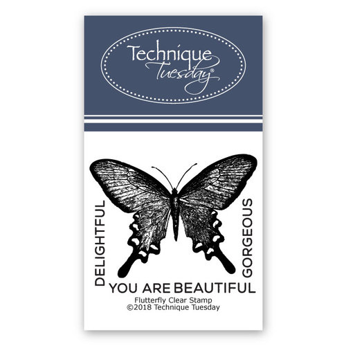 Technique Tuesday - Clear Acrylic Stamps - Flutterfly