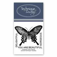 Technique Tuesday - Clear Photopolymer Stamps - Flutterfly