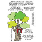 Technique Tuesday - Clear Acrylic Stamps - Family Tree