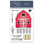 Technique Tuesday - Clear Acrylic Stamps - Funny Farm