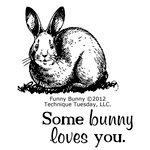 Technique Tuesday - Clear Acrylic Stamps - Funny Bunny