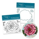 Technique Tuesday - DIY Steel Die and Acrylic Stamp Set - Gallica Rose Bundle