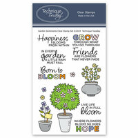 Technique Tuesday - Clear Photopolymer Stamps - Garden Sentiments
