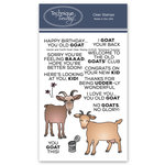 Technique Tuesday - Animal House Collection - Clear Acrylic Stamps - Gertie and Garth Goat