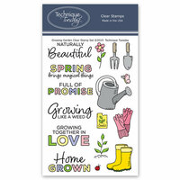 Technique Tuesday - Memory Keepers Studio - Clear Photopolymer Stamps - Growing Garden