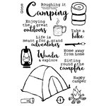 Technique Tuesday - Clear Acrylic Stamps - Gone Camping