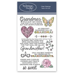 Technique Tuesday - Clear Acrylic Stamps - Grandma Blessings