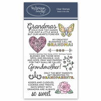 Technique Tuesday - Clear Photopolymer Stamps - Grandma Blessings