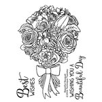 Technique Tuesday - Greenhouse Society Collection - Clear Acrylic Stamps - Beautiful Bouquet