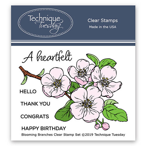 Technique Tuesday - Greenhouse Society Collection - Clear Photopolymer Stamps - Blooming Branches