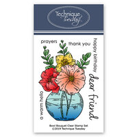 Technique Tuesday - Greenhouse Society Collection - Clear Photopolymer Stamps - Bowl Bouquet
