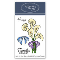 Technique Tuesday - Greenhouse Society Collection - Clear Photopolymer Stamps - Calla Lily
