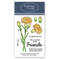 Technique Tuesday - Greenhouse Society Collection - Clear Photopolymer Stamps - Carnation Friends